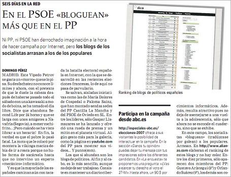 """abc 070520 - ABC: """"En el PSOE «bloguean» más que en el PP"""""""