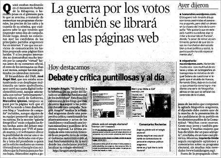 """hda 070511 - HdA: """"La guerra por los votos también se librará en las páginas web"""""""