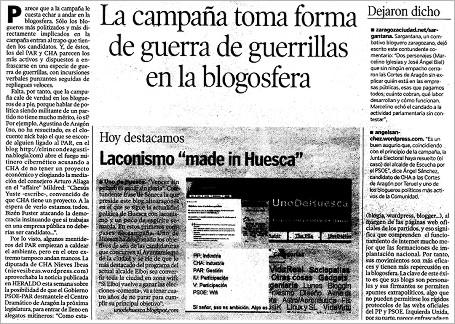 """hda 070513 - HdA: """"La campaña toma forma de guerra de guerrillas en la blogosfera"""""""