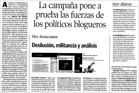 """hda 070519 - HdA: """"La campaña pone a prueba las fuerzas de los políticos blogueros"""""""