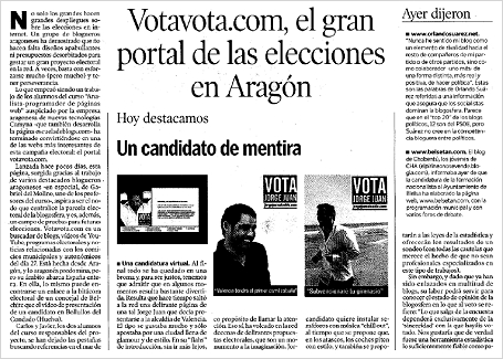 """hda 070521 - HdA: """"Votavota.com, el gran portal de las elecciones en Aragón"""""""