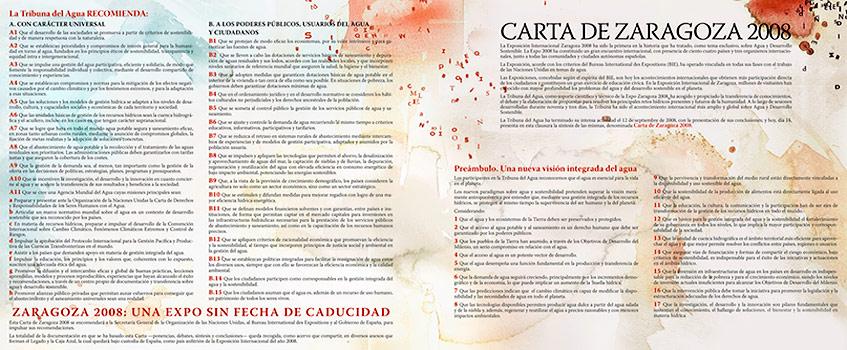 carta zaragoza 2008 1 - La Carta de Zaragoza, el gran legado de la Expo 2008