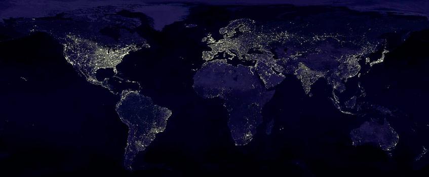planeta tierra iluminacion - Démosle un respiro a la Tierra…