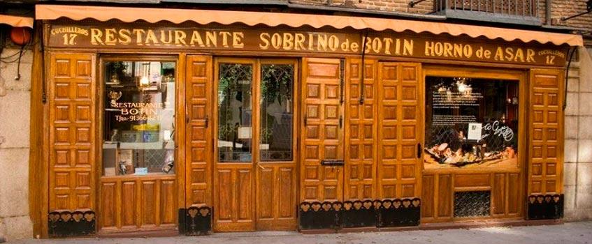 restaurante botin madrid - Historia aragonesa paseando por la capital de España