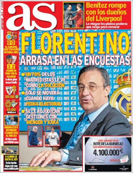 as florentino arrasa - Florentino Pérez arrasa en las encuestas