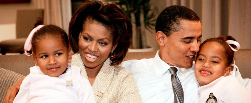 familia obama - Barack Obama, ¿será el inicio del fin del racismo?