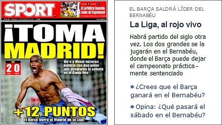 sport 200809 - ¡Sí, hay cagómetro! Pero en los medios catalanes...