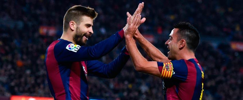 xavi pique - Un buen capitán en un maleducado F.C. Barcelona