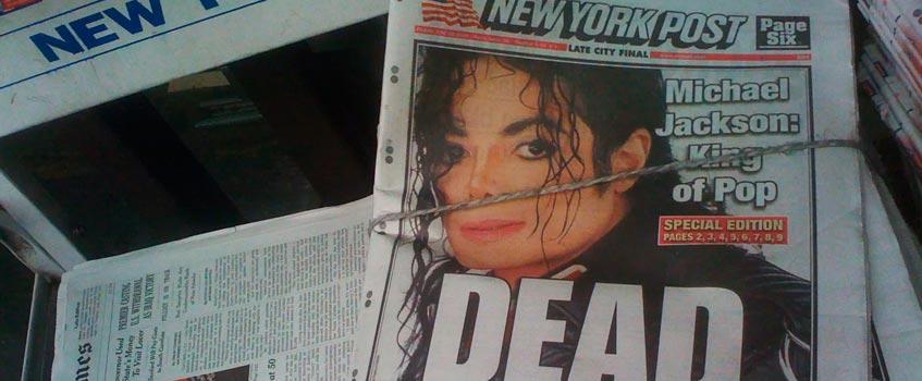new york post michael jackson - Las mejores portadas mundiales 'post mortem' de Michael Jackson