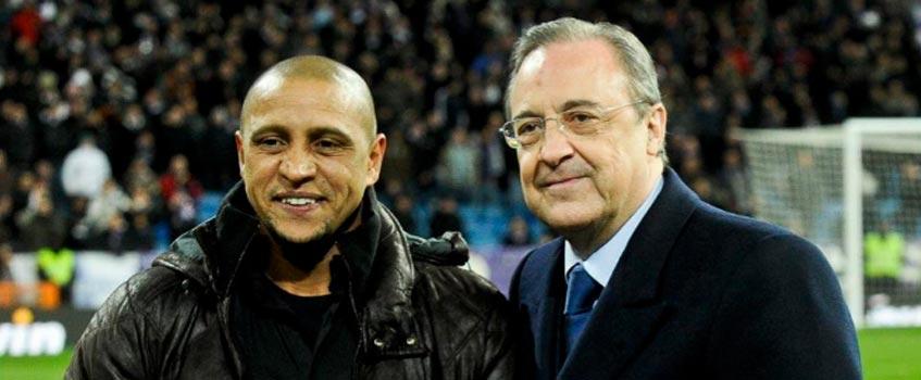 florentino perez roberto carlos - Real Madrid: Florentino Pérez 'fichará' de nuevo a Roberto Carlos