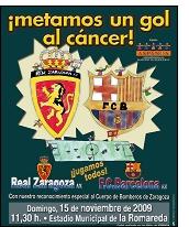 cartel aspanoa 2009 - Asociación Aspanoa: Metámosle otro gol al cáncer en La Romareda