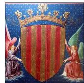 escudo corona aragon - ¿De dónde proceden los ciudadanos de Cataluña?