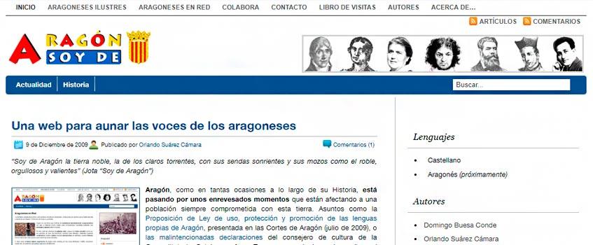 soydearagon 1 - Una web para aunar las voces de los aragoneses: soydearagon.com