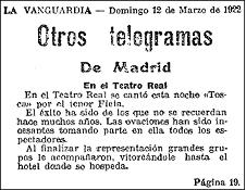 19220312 vanguardia - Recordando el exitoso estreno de Miguel Fleta en el Teatro Real