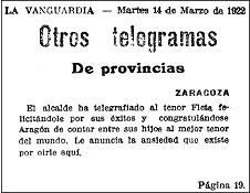 19220314 vanguardia - Recordando el exitoso estreno de Miguel Fleta en el Teatro Real