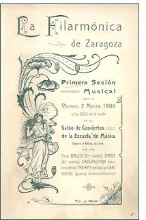 primer concierto filarmonica zgz - 104 años del primer concierto de la Filarmónica de Zaragoza