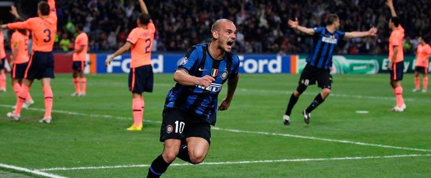 inter milan sneijder - La odisea azulgrana, los viajes lejanos y las victorias imposibles