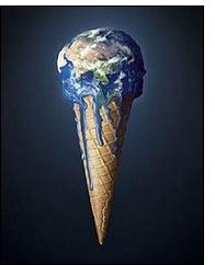 """planeta derretido - Manifiesto Día de la Tierra 2010: """"Cambia de vida, no de clima"""""""