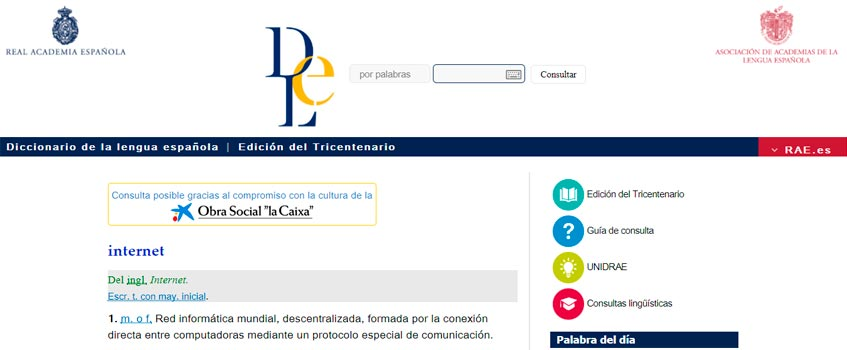 rae internet - Los nuevos retos de la lengua española para el siglo XXI