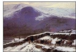 rebano en invierno barbasan - Mariano Barbasán: Luminosidad y colorismo a partir de un lienzo
