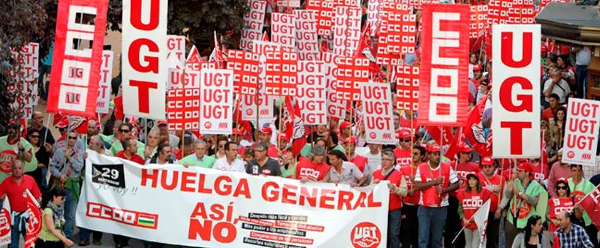 huelga general - La 5ª huelga general convocada contra un gobierno socialista