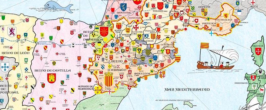 corona aragon siglo xiii - La expansión marítima y el Tratado de Canfranc en la Corona