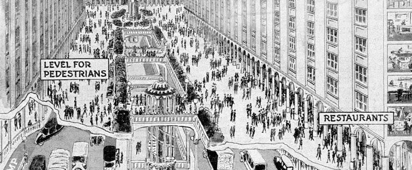 popular science ciudades - Un futurista modelo de ciudad publicado en el año 1925
