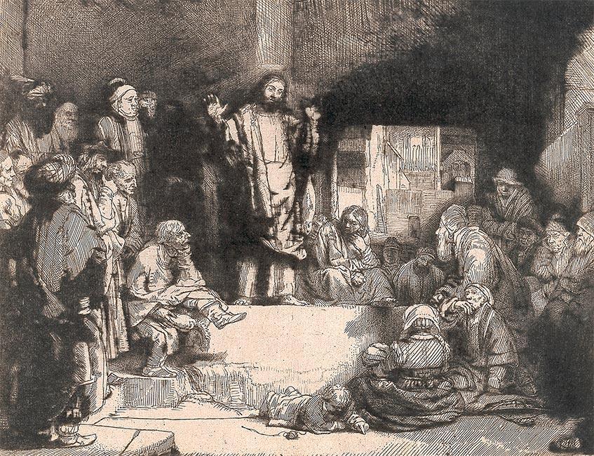 cristo predicando rembrant - Rembrandt Van Rijn: El círculo de su tradición en Fuendetodos