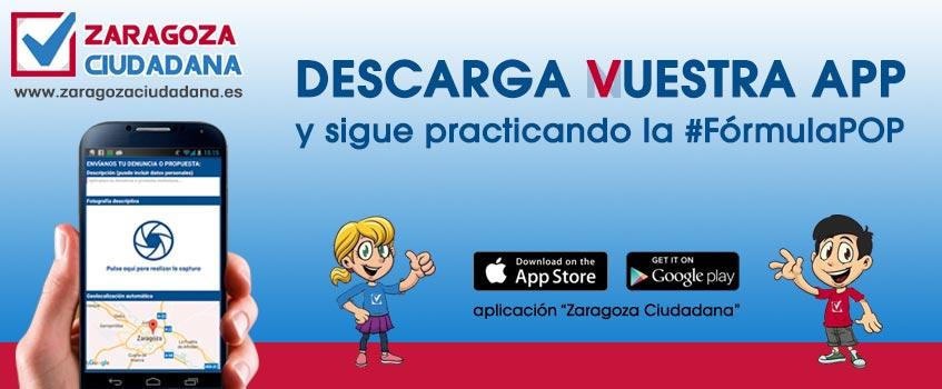 formulapop zgzciudadan - Zaragoza Ciudadana crea su app para promover la participación