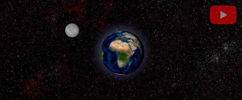 video 3d earth moon 2 - El baile de la Luna alrededor de la Tierra en 3D